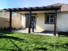 Aluminum Wood Patio Covers And Awning Installations In Fontana CA.